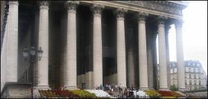 La facciata della Madeleine