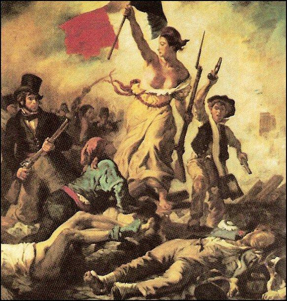 E. Delacroix: La liberté guidant le peuple